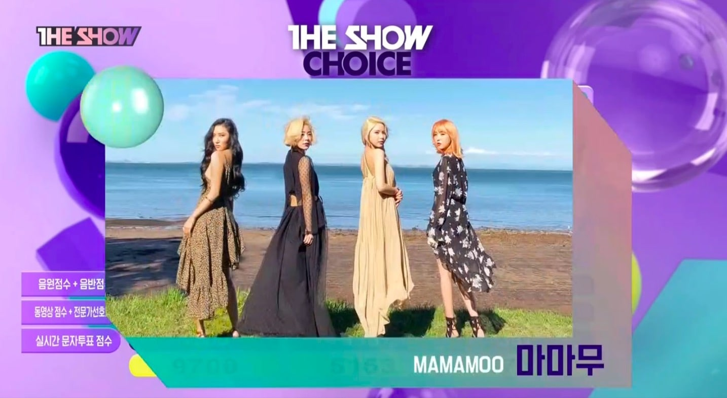 "MAMAMOO Takes 6th Win With ""Starry Night"" On ""The Show"""