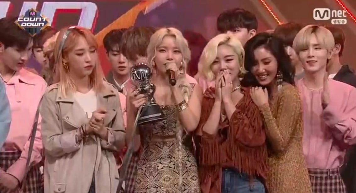 "Watch: MAMAMOO Grabs 7th Win For ""Starry Night"" On ""M"