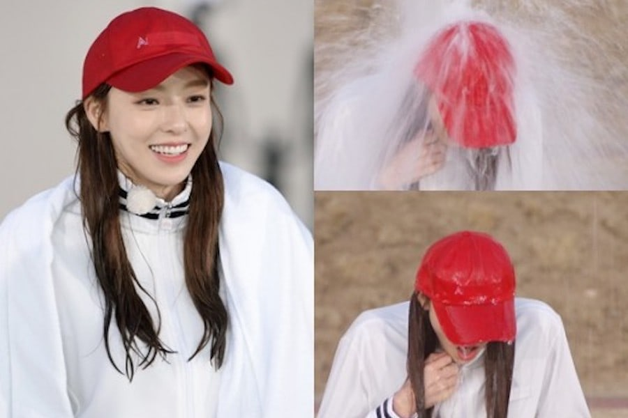 """Lee Da Hee Gets Drenched On """"Running Man"""""""
