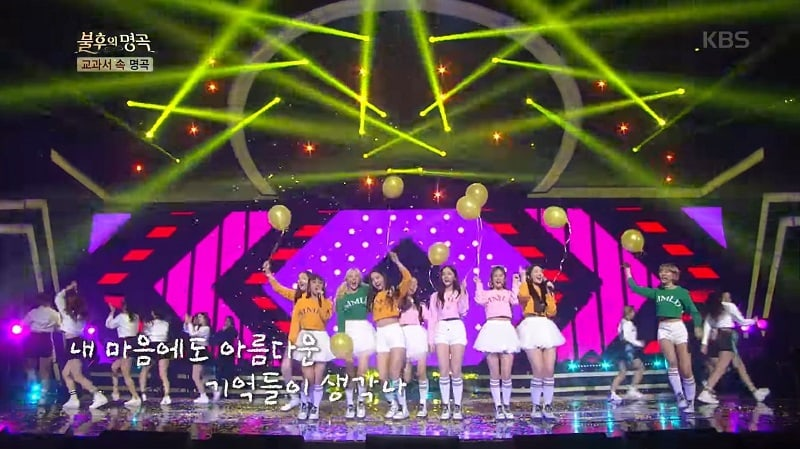 "Watch: MOMOLAND Performs TVXQ's ""Balloons"" + Covers H.O.T.'s ""Warrior's Descendant"" On ""Immortal Songs 2"""