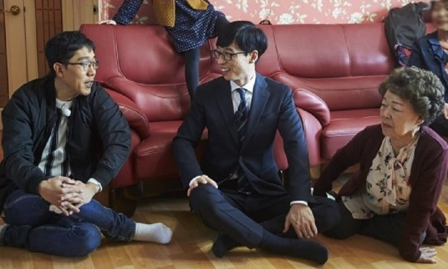 "Yoo Jae Suk Surprises Kim Je Dong's Mother On ""Infinite Challenge"""