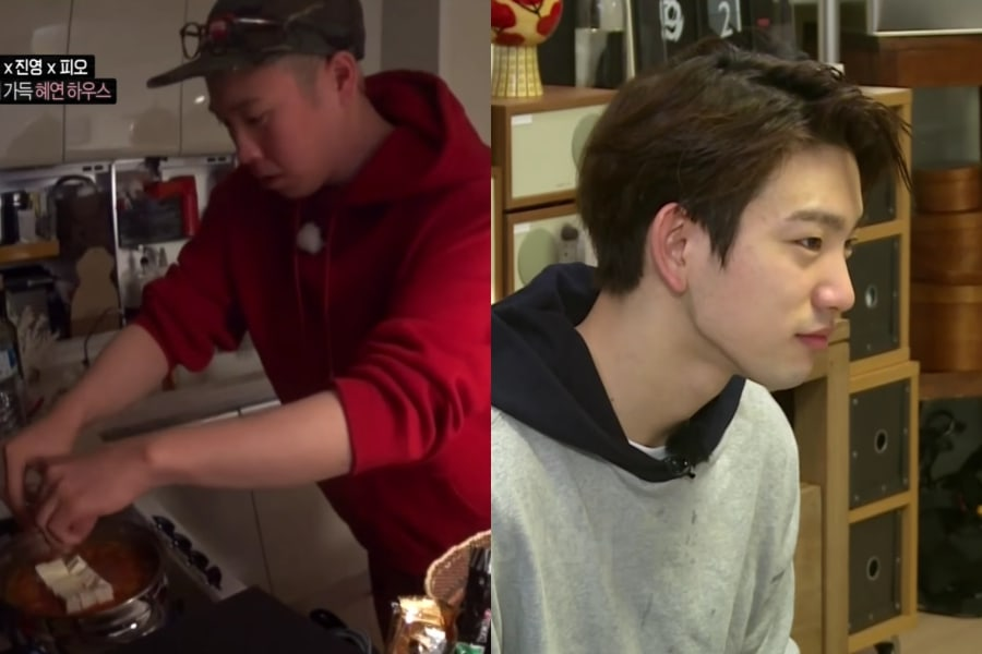 Block B's P.O Makes Breakfast For His Roommates And Shows Bromance With GOT7's Jinyoung