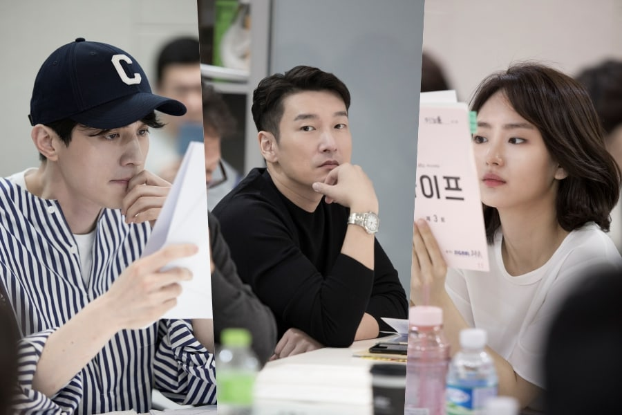"Lee Dong Wook, Cho Seung Woo, Won Jin Ah, And The Cast Of ""Life"" In First Script Reading"