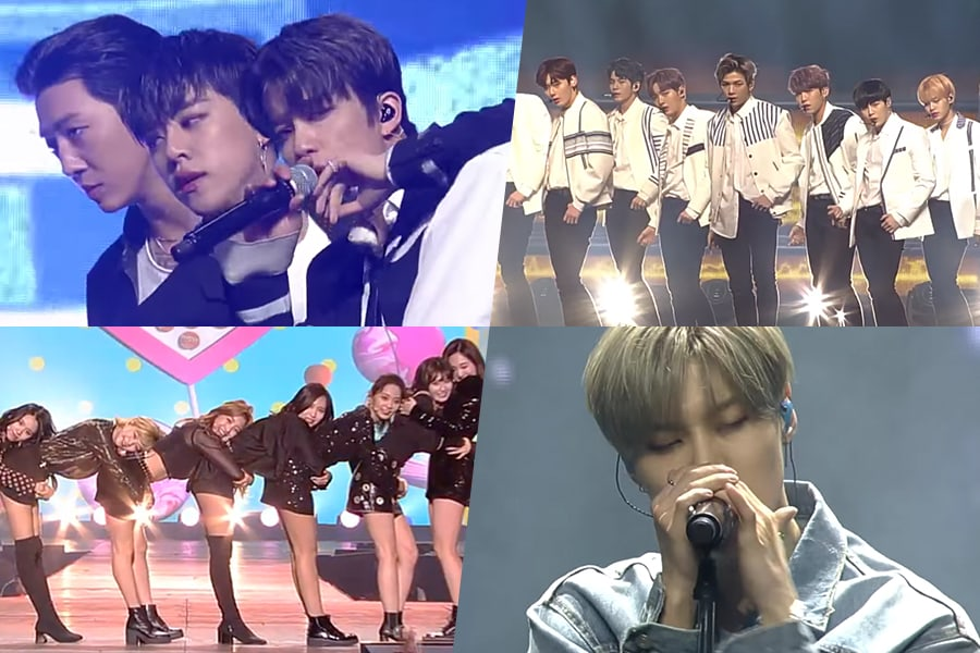 """Watch: B.A.P, Wanna One, TWICE, Taemin, And More Perform On """"Music Bank"""" In Chile"""