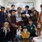 "Super Junior, EXO-CBX, TVXQ, And Red Velvet Meet Up Behind-The-Scenes On ""Music Bank"""