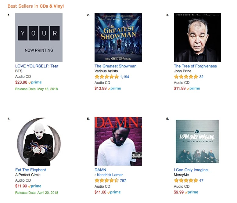 BTS Tops Amazon's Best Sellers List Once Again With Pre