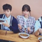"Watch: 2PM's Junho, Jung Ryeo Won, And Jang Hyuk Have Fun During Food-Filled Photo Shoot For ""Wok Of Love"""