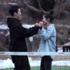 Watch: Jung Hae In And Son Ye Jin Can't Stop Being Affectionate While Filming Their Drama