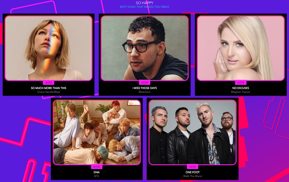 BTS Nominated For 4 Categories At 2018 Radio Disney Music