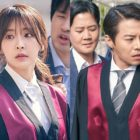 """Jung Yoo Mi And Park Eun Suk Face Horde Of Reporters On """"Partners For Justice"""""""