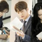 "Go Ara, INFINITE's L, Lee Elijah, And More Passionately Study Their Scripts In Behind-The-Scenes Photos Of ""Miss Hammurabi"""