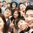"""Running Man"" Cast And Lee Sang Yeob Celebrate PD's Wedding"