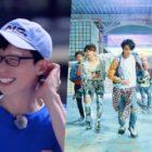 """Watch: Yoo Jae Suk Injures Himself While Dancing To BTS's """"Fake Love"""" On """"Running Man"""""""