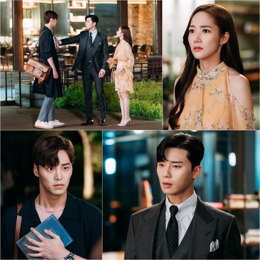 Part Young Joon( phó chủ tịch) đã đứng ngồi không yên khi thư kí Kim phải nhập viện.