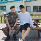 INFINITE's L Visits Sunggyu At His Military Training Completion Ceremony