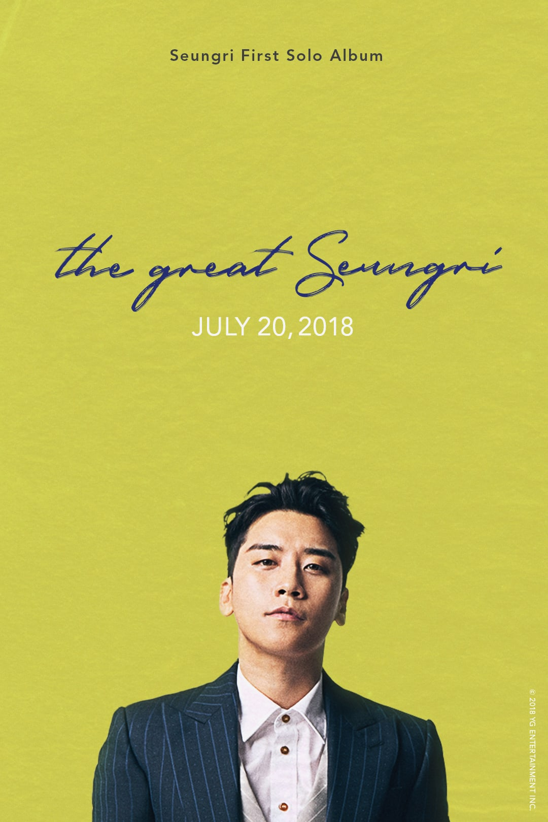 The Great Seungri akan menajdi album solo pertama Seungri Bigbang nih Teens (dok. YG Entertainment)