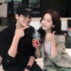 "Park Hyung Sik Surprises Han Ji Min On Set Of ""Familiar Wife"""