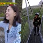 Watch: Kang Han Na And HaHa End Their Luxurious Trip By Crossing The Longest Suspension Bridge In The World