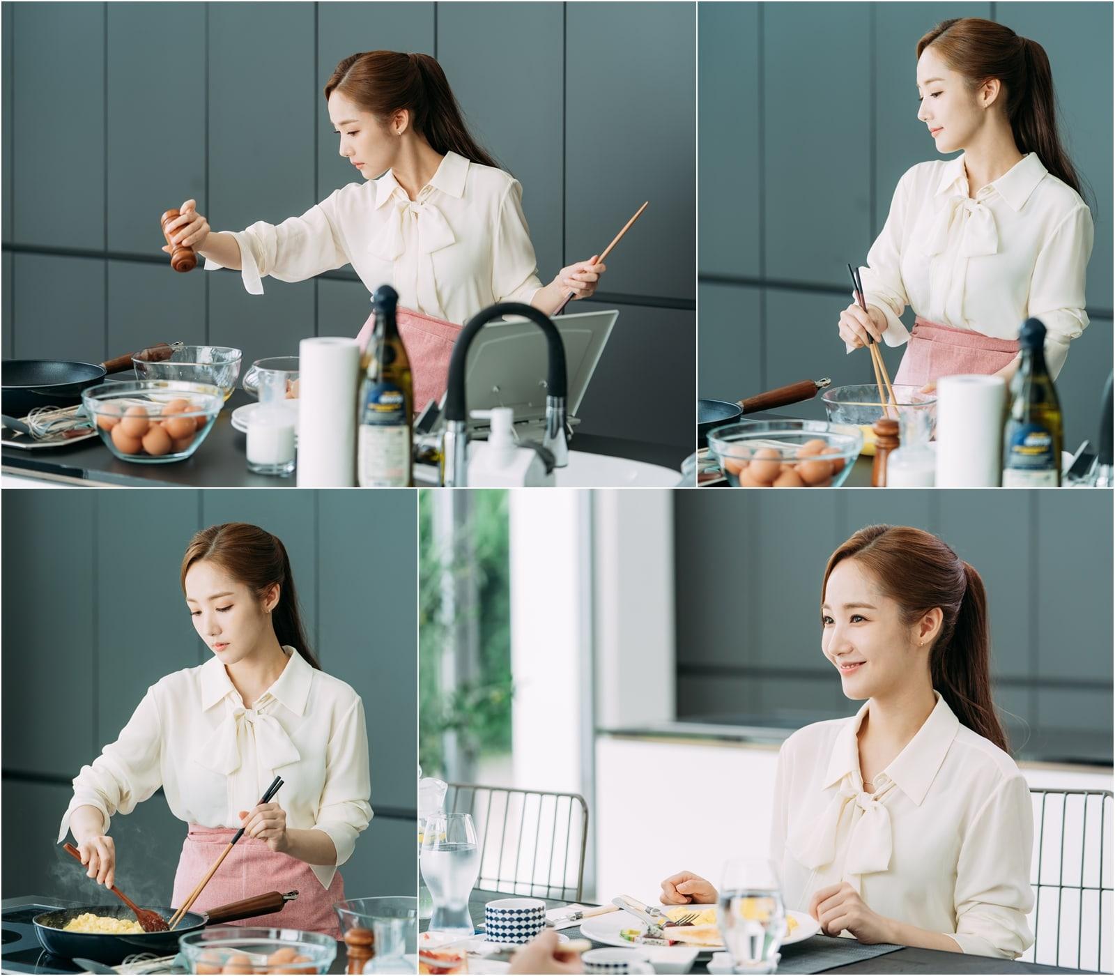 Thư ký Kim lần đầu tự tay nấu bữa sáng tình yêu cho Park Seo Joon - Ảnh 3.