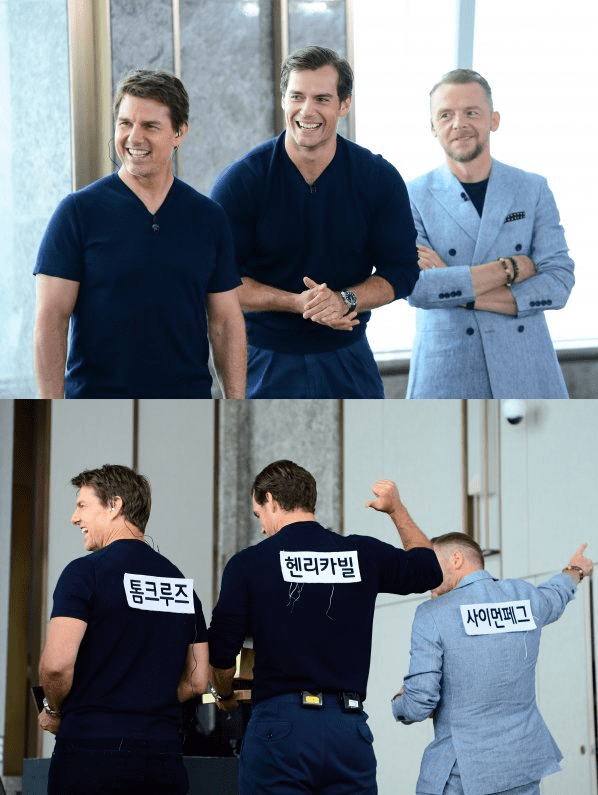 "Mission: Impossible"" Cast Members Excitedly Grin With Their"