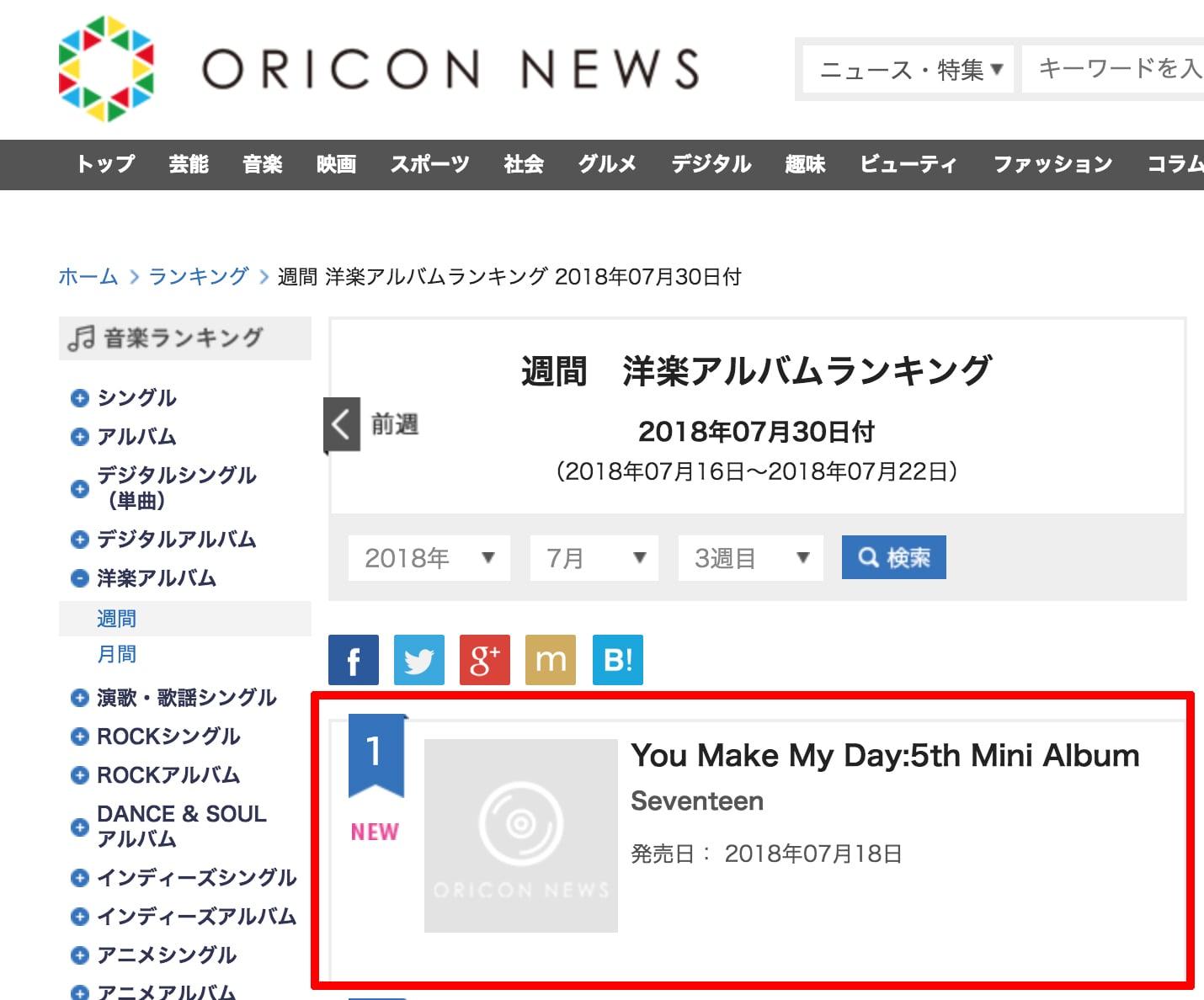 SEVENTEEN Impresses On Oricon's Weekly Album Charts | Soompi