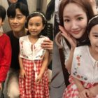 "Park Seo Joon And Park Min Young Snap Photos With ""What's Wrong With Secretary Kim"" Child Counterparts"