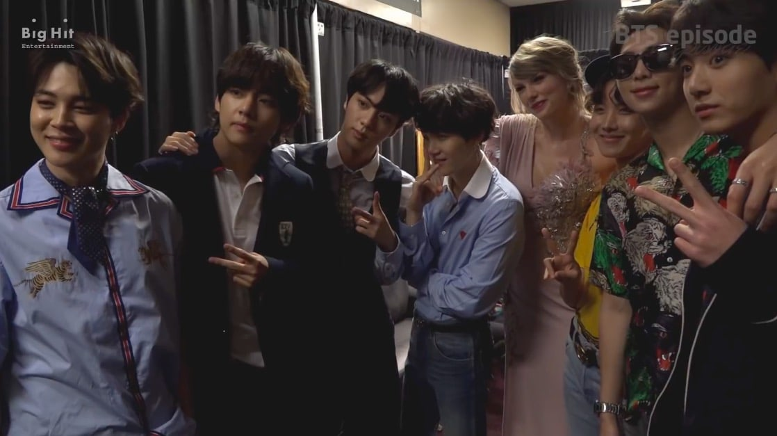 Watch: BTS Meets John Legend, Taylor Swift, Pharrell Williams, And More In  New Video From 2018 BBMAs | Soompi