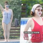 Choi Hwa Jung Expresses Gratitude For Positive Comments About Her And Lee Young Ja's Swimsuit Bodies