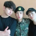 2PM's Chansung And Junho Reunite With Wooyoung In The Military