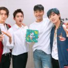 """Choi Siwon And Ryeowook Cheer On Super Junior D&E At """"Music Bank"""" Comeback Stage"""