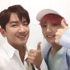 Shinhwa's Lee Minwoo And BTS's Jungkook Excitedly Reunite Backstage