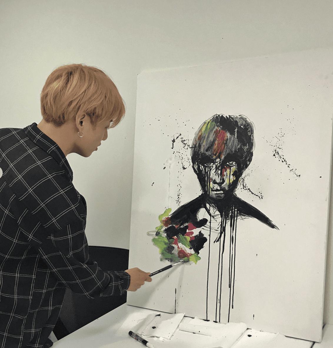 Ternyata Jungkook BTS Pandai Melukis Lihat Lukisan Wajah