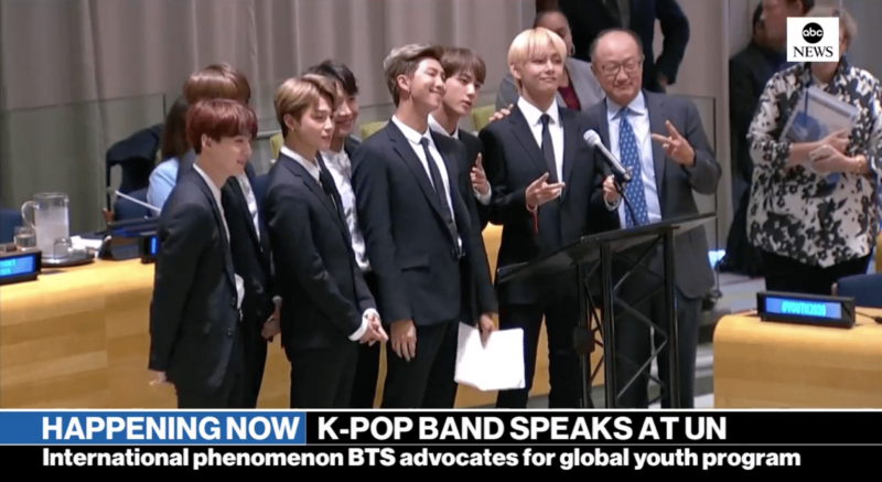 BTS dalam sidang PBB ke-73 tanggal 24 September 2018