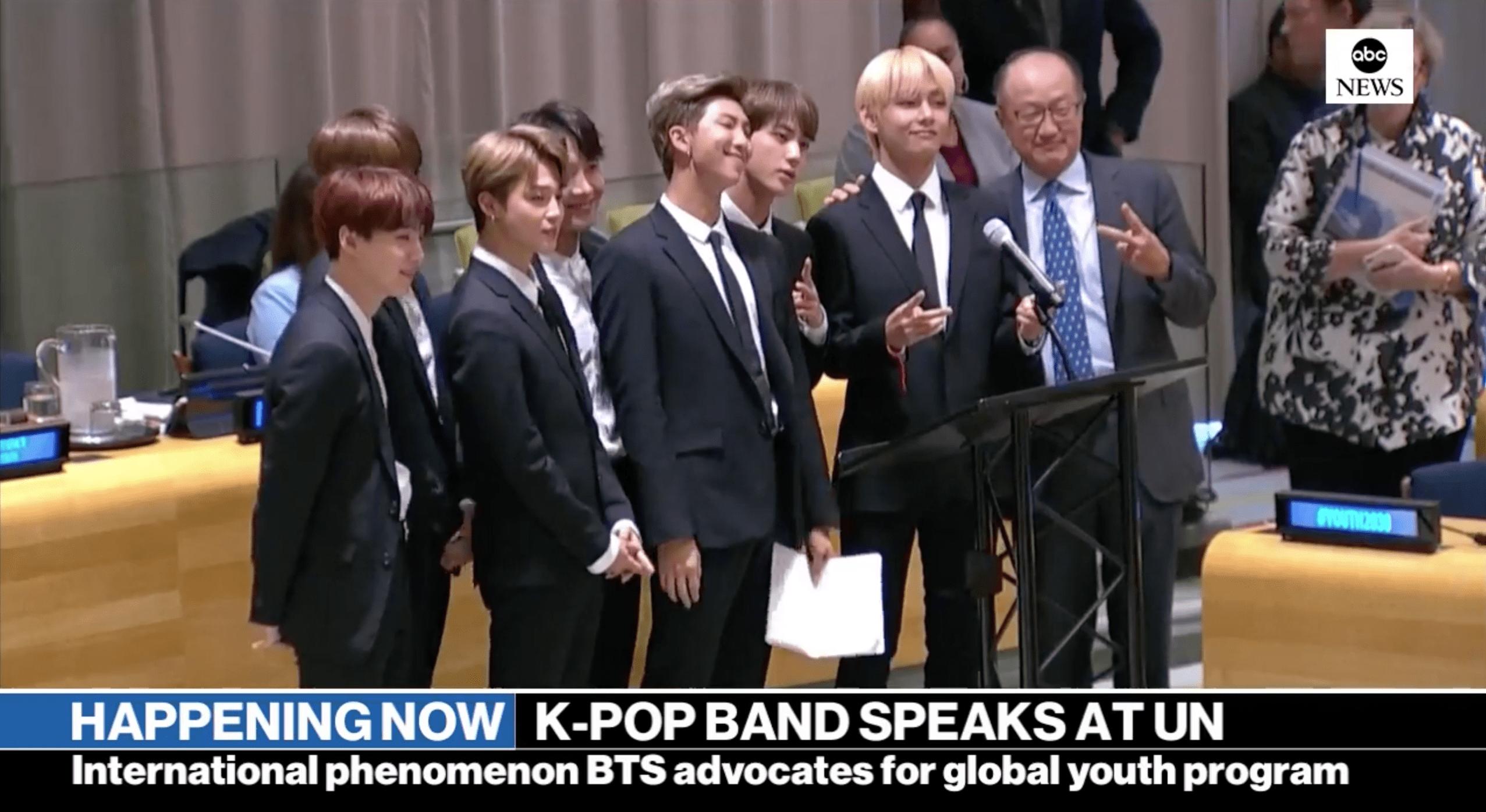 ประวัติศาสตร์ไอดอล! BTS กล่าวสุนทรพจน์ในที่ประชุมสหประชาชาติ