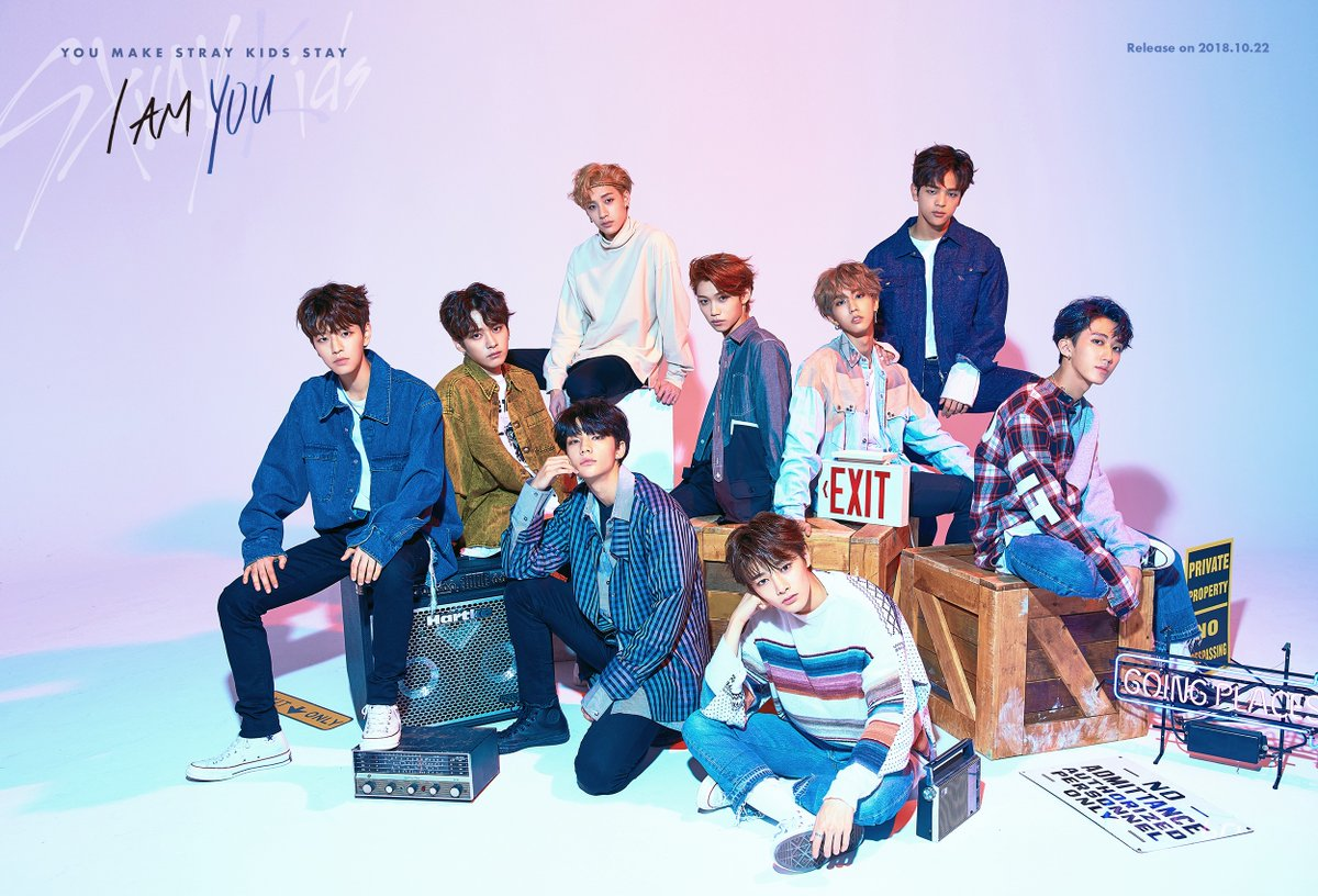 watch stray kids reveals sneak peek of new choreo for i am you soompi. Black Bedroom Furniture Sets. Home Design Ideas