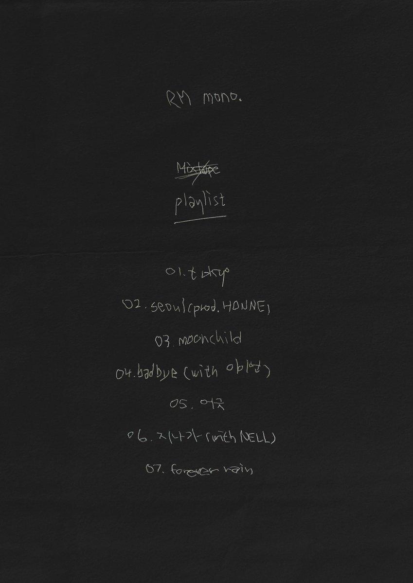 RM de BTS anuncia nuevo mixtape + revela lista de canciones 2