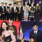 BTS, Red Velvet, Son Ye Jin, Yoo Jae Suk, And More Express Thanks At 2018 Korean Popular Culture & Arts Awards