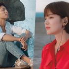 "Park Bo Gum And Song Hye Kyo Are A Reminiscent Couple In New ""Encounter"" Posters"