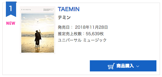 SHINee's Taemin Soars To Top Of Oricon's Daily Albums Chart