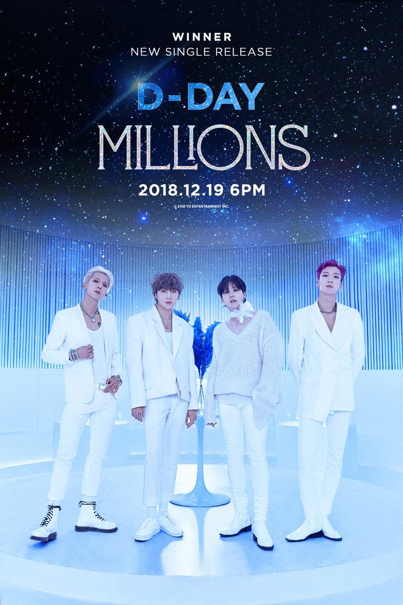 Winner merilis single barunya yang berjudul Millions (dok. YG Entertainment)