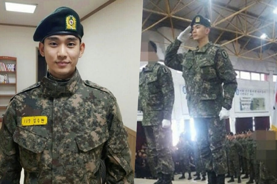 Resultado de imagen para kim soo hyun servicio militar