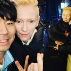 Lee Si Eon Shares Fun Selfies With Tilda Swinton