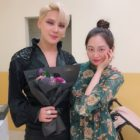 MOMOLAND's Taeha Shows Support For Her Cousin JYJ's Kim Junsu