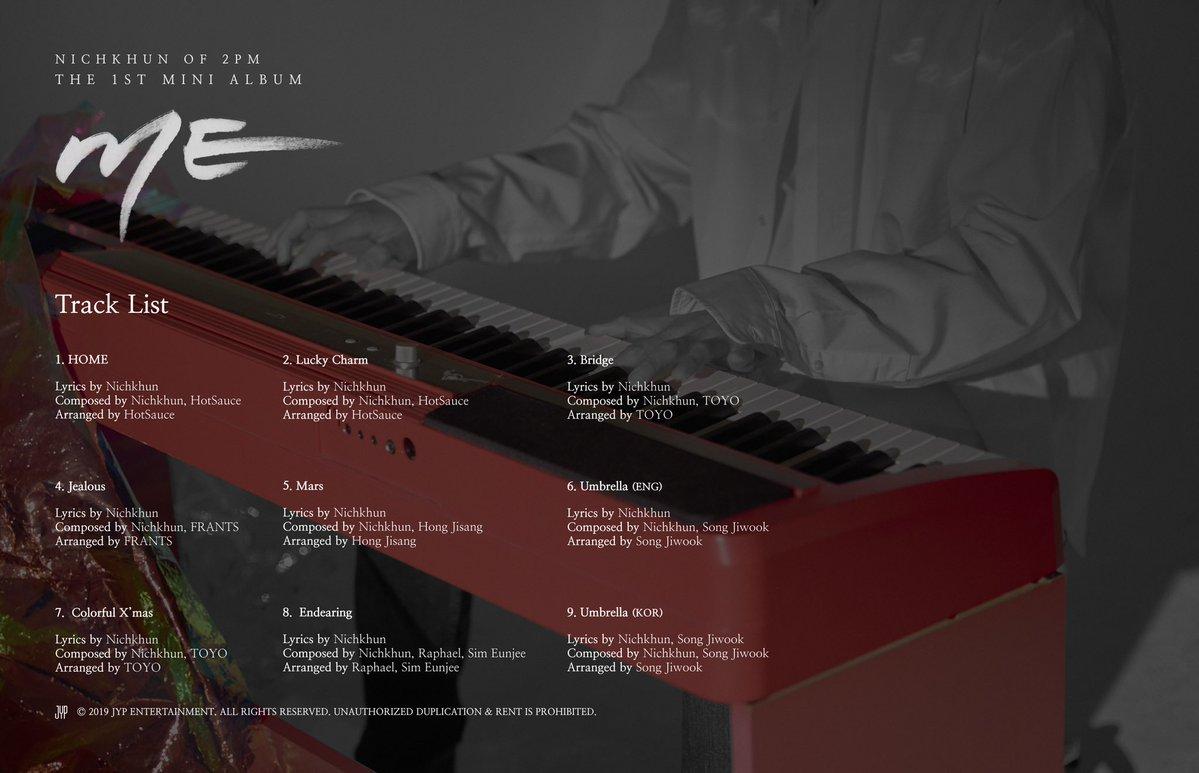 """Nichkhun (2PM) >> Mini Album """"ME"""" - Página 11 Nichkhun-Track-List"""