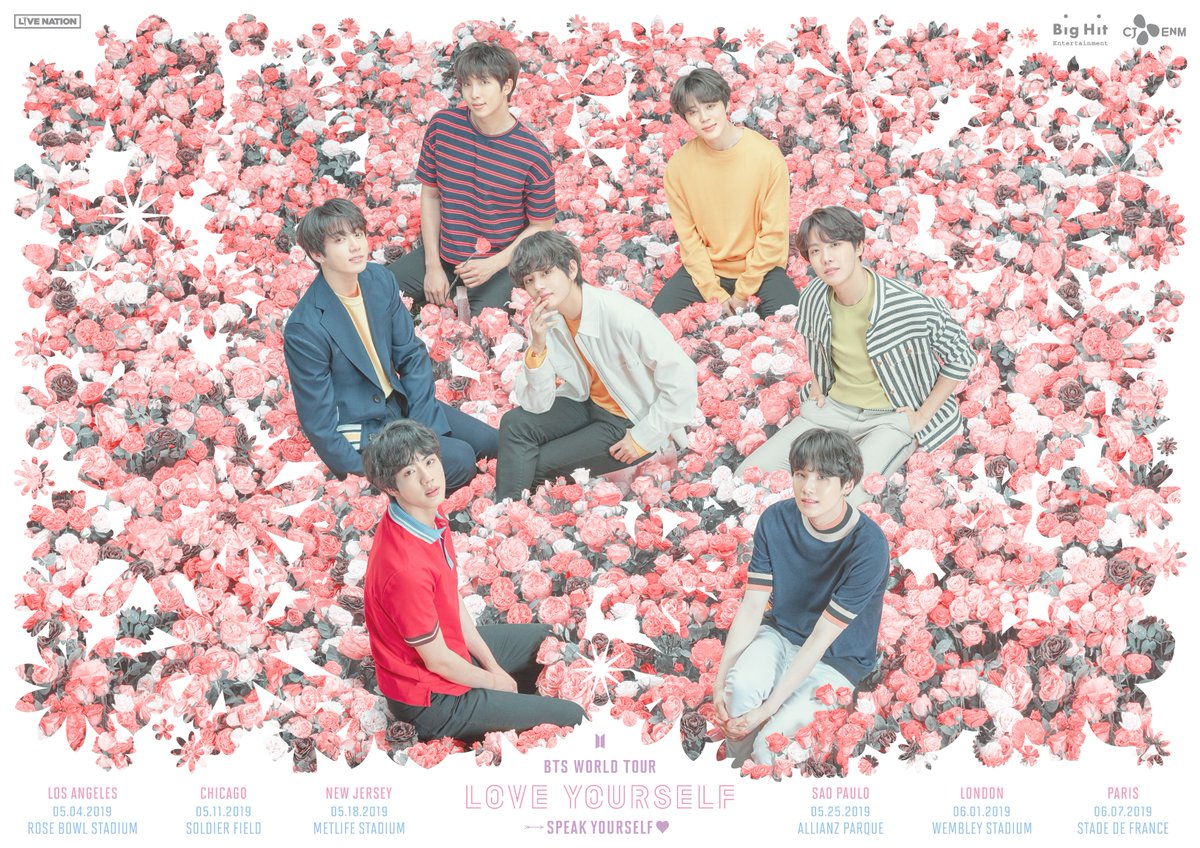 Bts Announces Love Yourself Speak Yourself Tour In Stadiums Around The World Soompi
