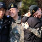B1A4's CNU Gets A Hug And Support From Gongchan As He Finishes Basic Military Training