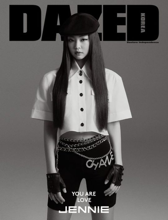 Jennie Blackpink baru saja menjalani pemotretan bersama majalah Dazed (dok. Dazed)
