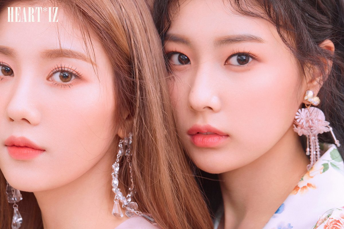 "Update: IZ*ONE Shares Colorful Cover Art For ""HEART*IZ"" Mini"