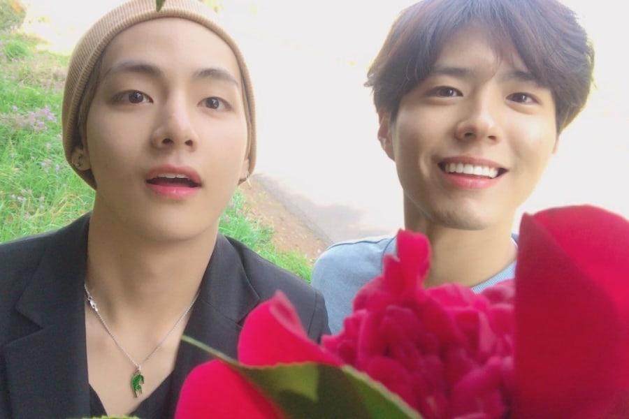 V BTS dan Park Bo Gum