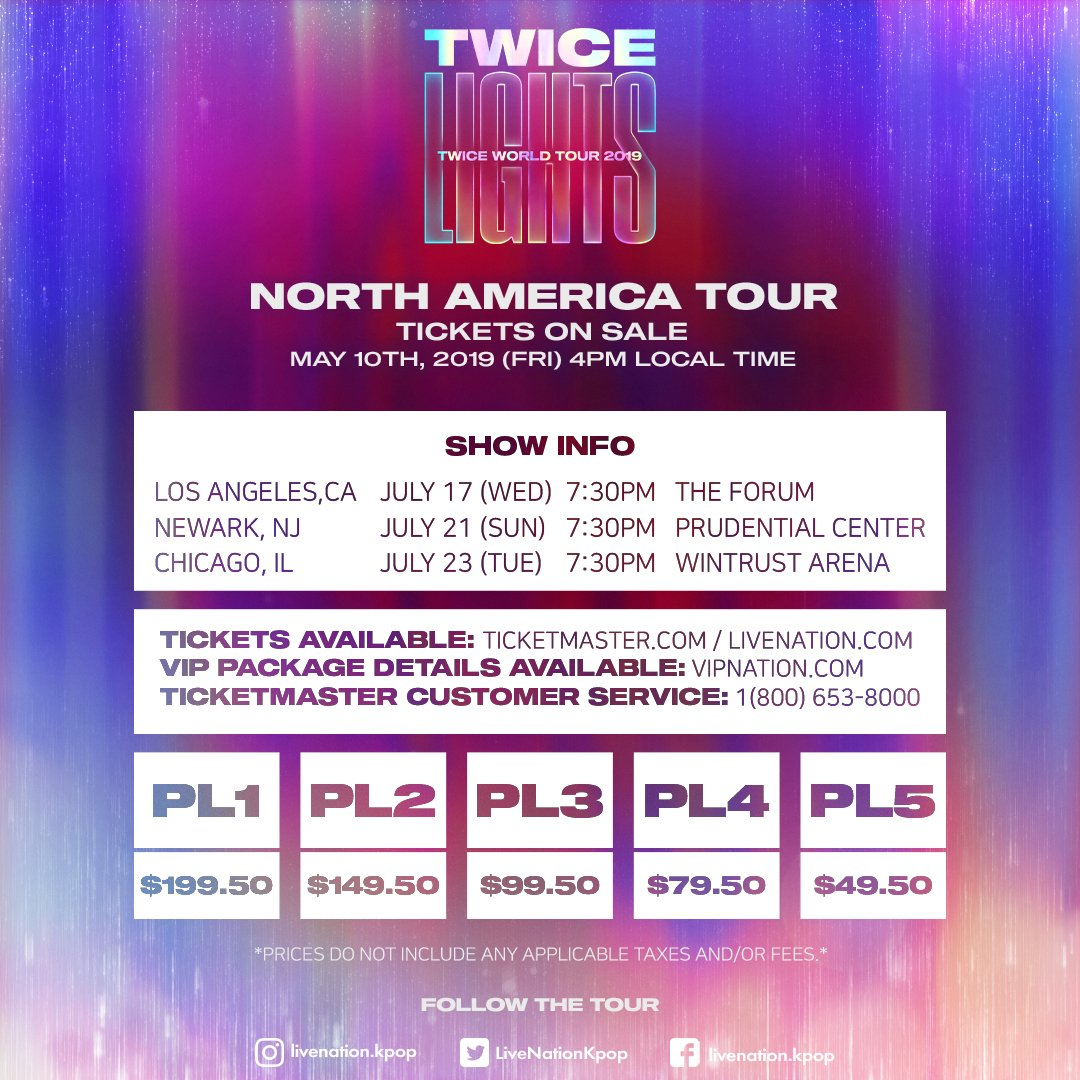 Update: TWICE Reveals Venues + Ticketing Info For 1st-Ever U S  Tour